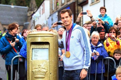 Andy's Gold Postbox
